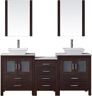 Virtu USA KDWMZG Modern Inch Double Sink Bathroom - 66 double sink bathroom vanity
