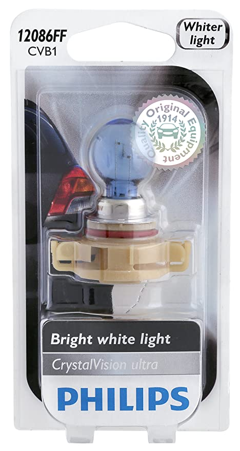 Amazon.com: Philips 12086FFCVB1 CrystalVision Ultra Upgrade PS24W Fog Bulb (12086): Automotive