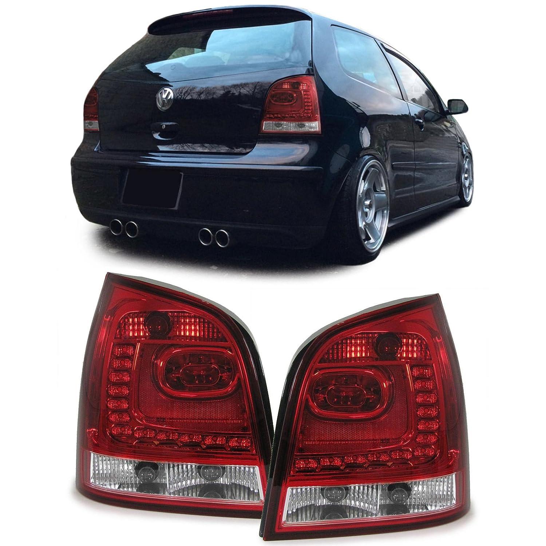 Carparts-Online 28586 LED Klarglas R/ückleuchten rot klar