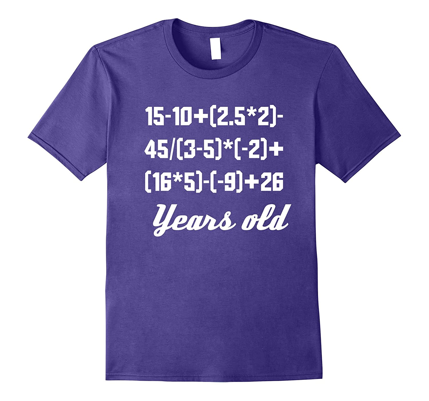 80 Years Old Algebra Equation Funny 80th Birthday Math Shirt-Vaci
