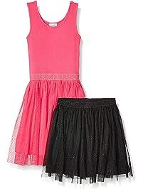 Amazon Brand - Spotted Zebra Girl's Toddler & Kids Tutu Tank Dress and Skirt Set