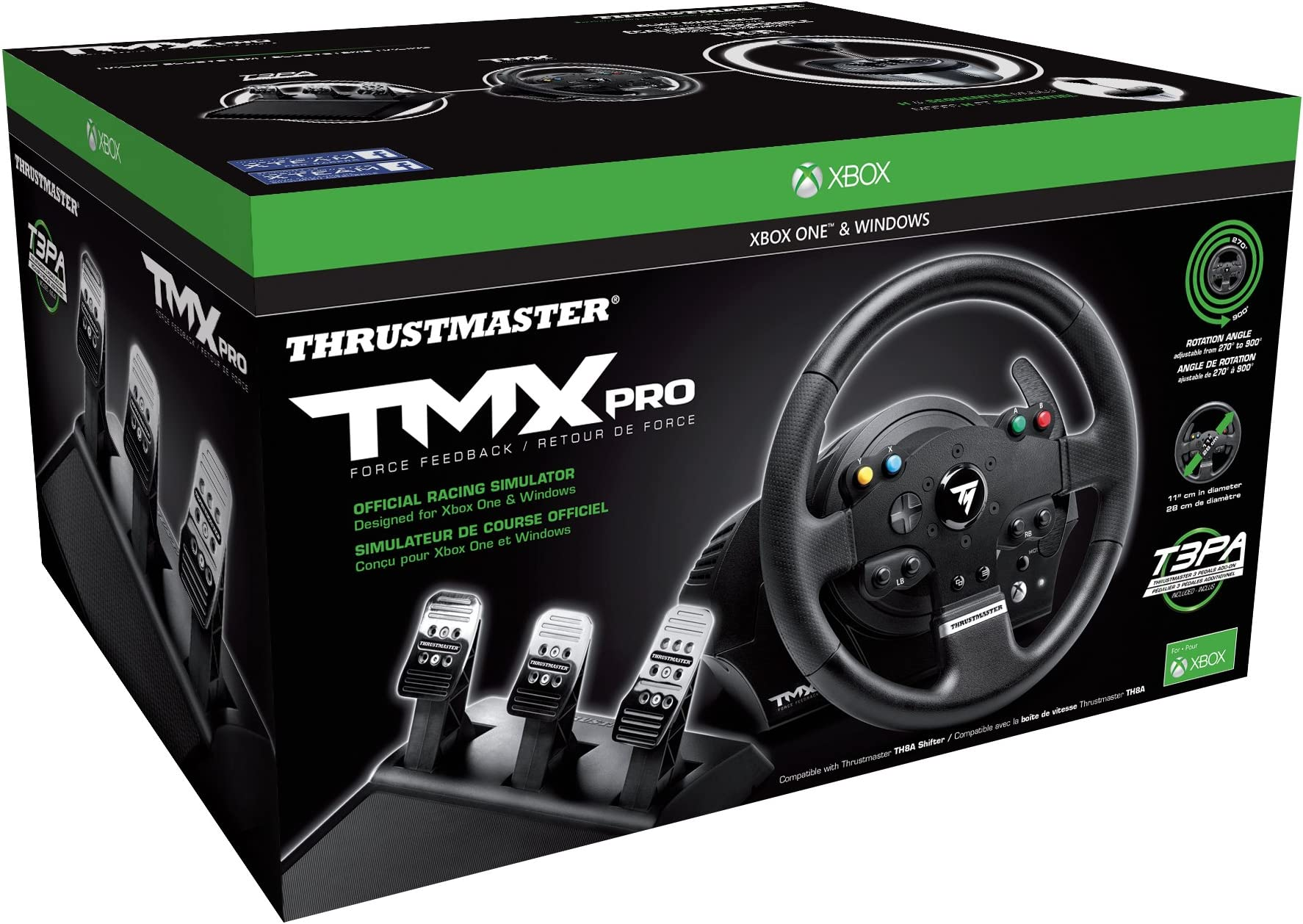 Amazon com: Thrustmaster TMX PRO Racing Wheel: xbox one: Video Games