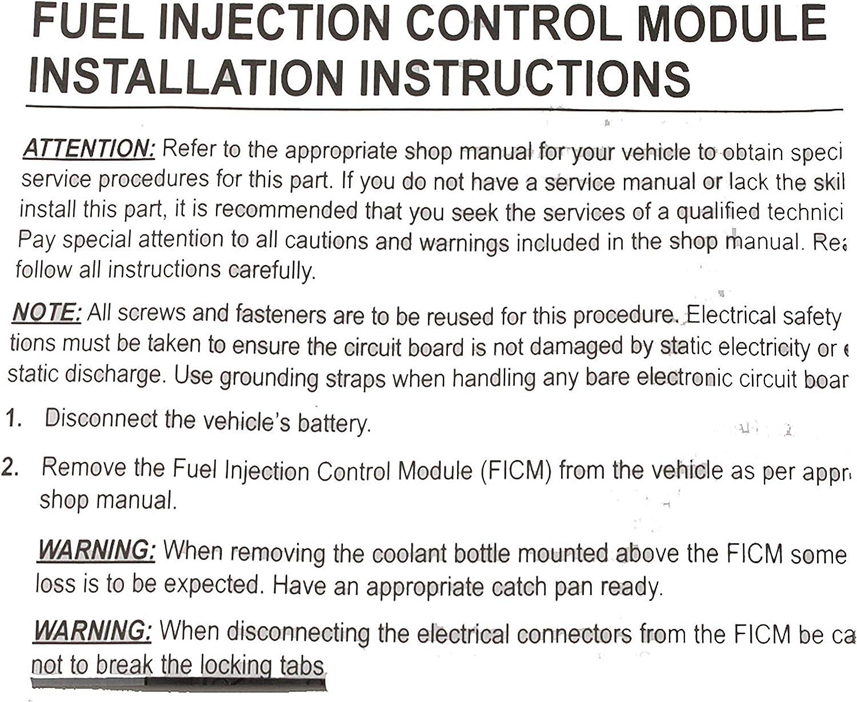 3C3Z12B599AARM, 4C3Z12B599AARM, 4C3Z12B599ABRM, 4C3Z12B599BARM Navistar 1845117C2, 1845117C6 View Description APDTY 112664 FICM Fuel Injection Control Module Power Circuit Board Fits Ford /& International Navistar Trucks w//6.0L Diesel Engine USA Made