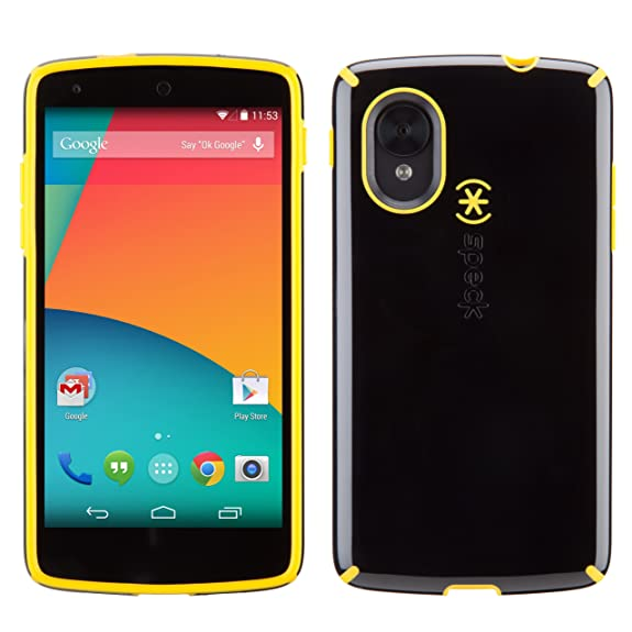 differently df8b5 97914 Speck Products CandyShell Case for LG Nexus 5 - Black/Caution Yellow