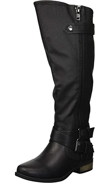 6757a0b585c90 Rampage Women s Hansel Zipper and Buckle Knee-High Riding Boot