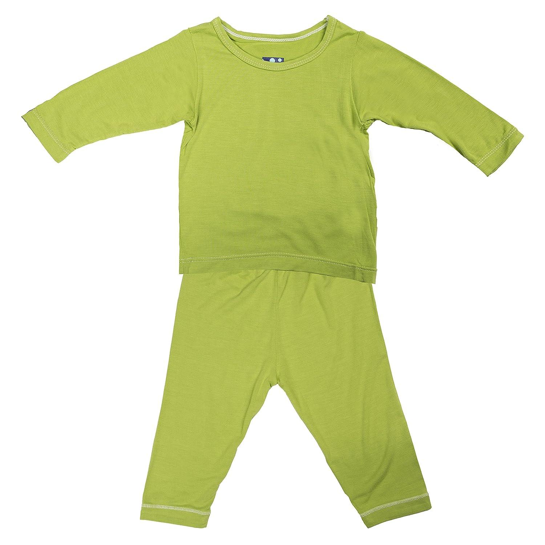 Kickee Pants Big Boys Basic Long Sleeve Pajama Set in Meadow 9Y