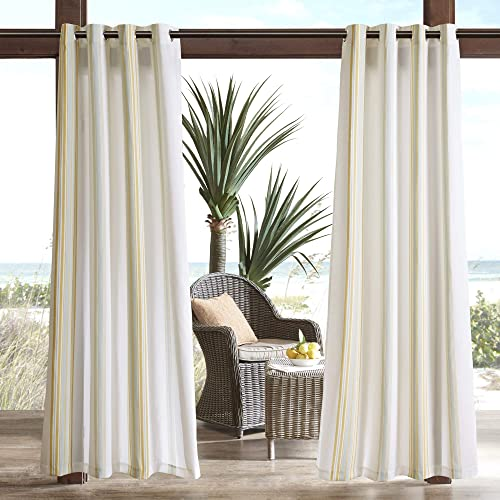 Cheap Madison Park Newport Striped Outdoor Window Curtains Garden window curtain panel for sale