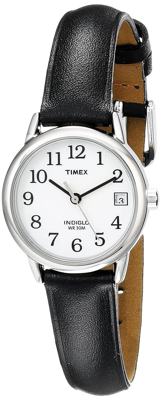 82bcf80f2fcb Amazon.com  Timex Women s T2H331 Indiglo Leather Strap Watch