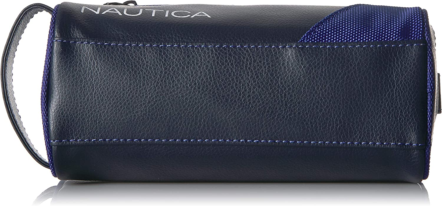Nautica Men's Top Zip Travel Kit Toiletry Bag Organizer, royal blue, One Size: Clothing