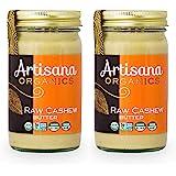 Artisana Organics Raw Cashew Butter (2 Pack) - No Sugar Added, Vegan and Paleo Friendly, Non GMO, 14oz Jar (2 Pack)