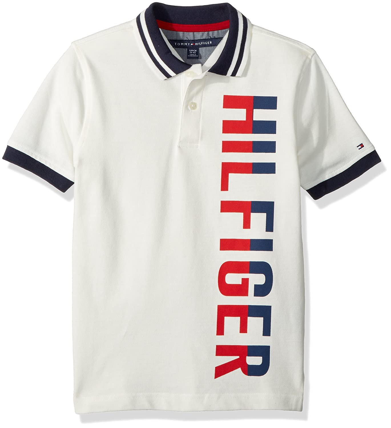 Tommy Hilfiger Boys Short Sleeve Matt Polo Shirt Master Navy