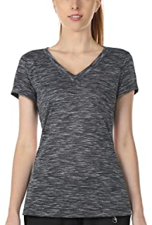18e5b043d306 icyzone Workout Shirts for Women - Yoga Tops Activewear Gym Shirts Running Fitness  V-Neck