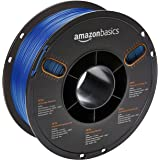 AmazonBasics PETG 3D Printer Filament, 1.75mm, Translucent Blue, 1 kg Spool