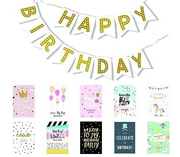 amazon com happy birthday banner birthday decorations premium