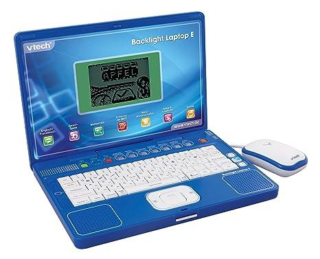 VTech 80-029714 Backlight Laptop E - Ordenador portátil educativo para niños, color azul