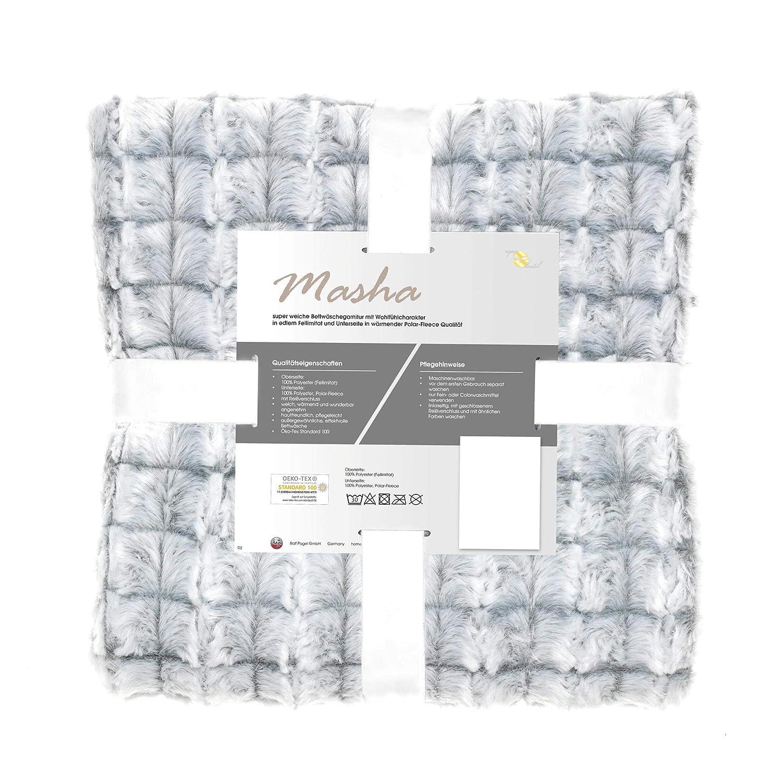 Aqua Textil Masha Polar Fleece Bettwäsche 200 X 220 Cm 3 Teilig Grau