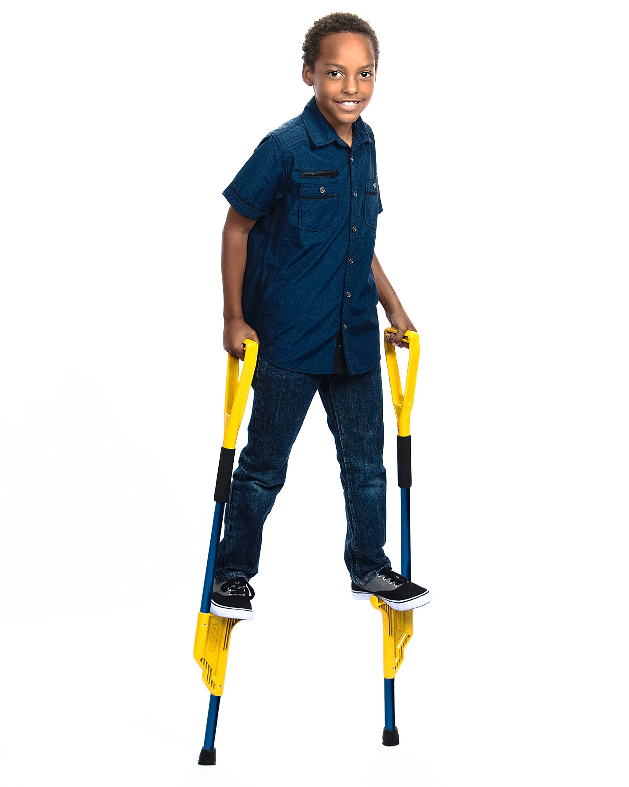 Hijax Junior Size American Stilts for Active Kids (Blue)