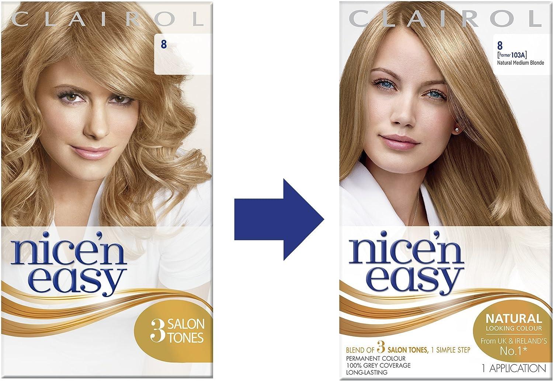 Tinte para el pelo Clairol Nice n Easy, permanente: Amazon ...