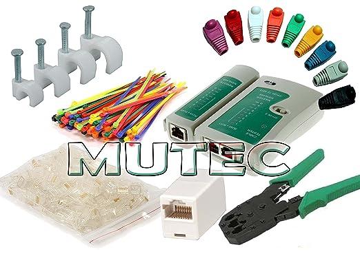 117 opinioni per MutecPower- kit di strumenti di rete via cavo: Cavo tester + Pinza crimpatrice +