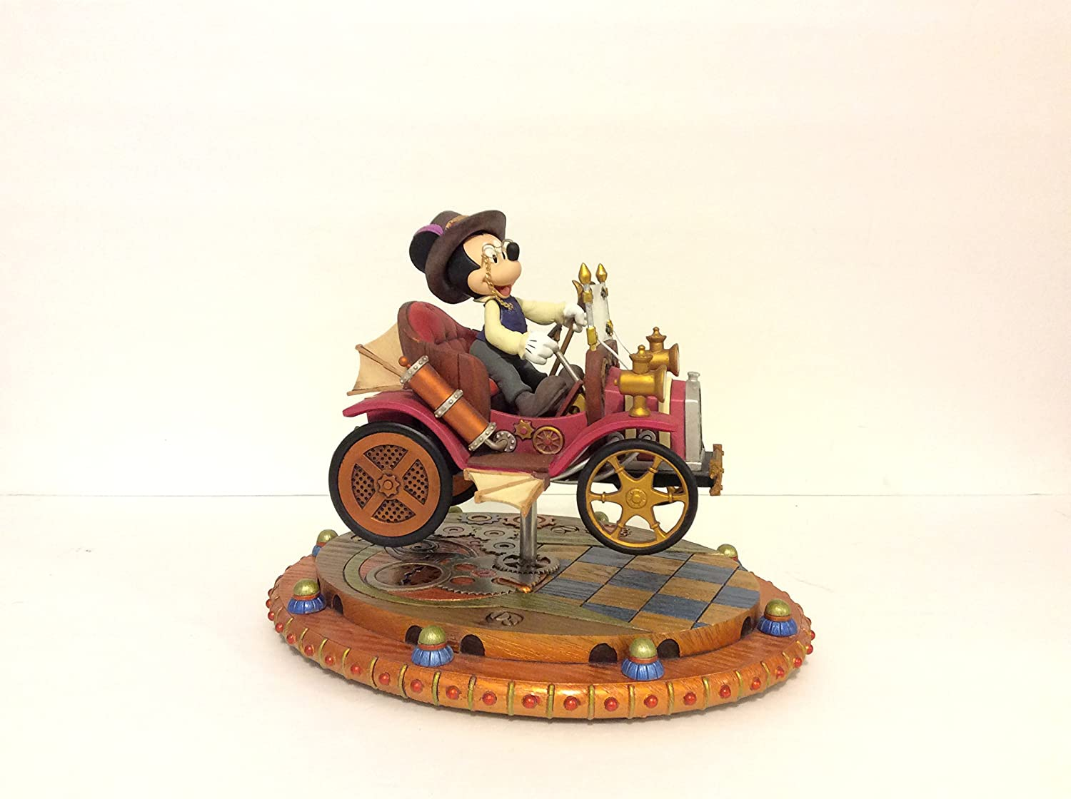 Steampunk Mickey Mouse Street Car Figurine