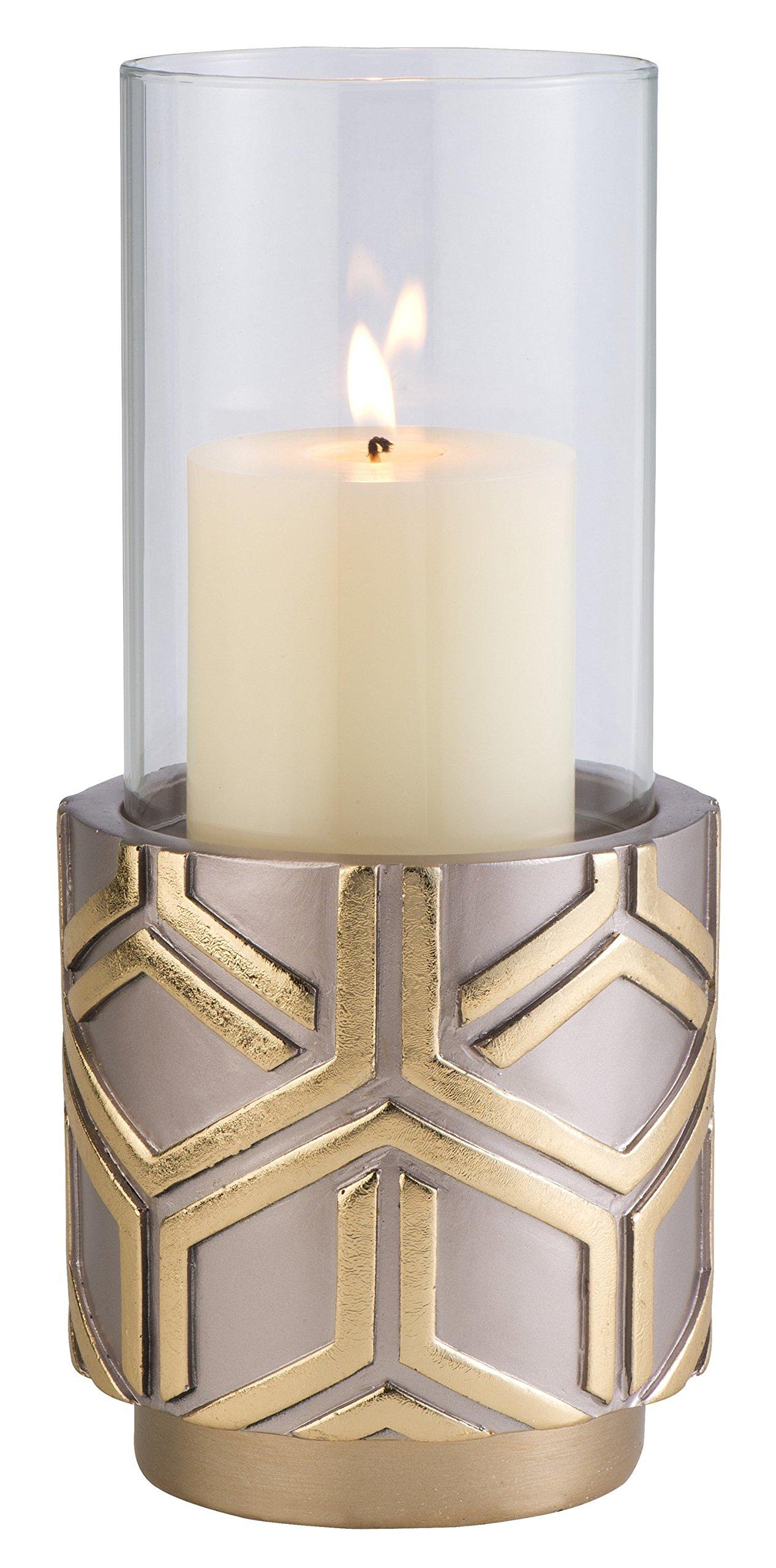 OK Lighting OK-4274-C2 11 Inch Rose Gold Color Savannah Candle Holder,