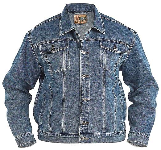 Duke KS1303 Denim Jeans-Jacke stonewashed in Übergrößen: Amazon.de:  Bekleidung