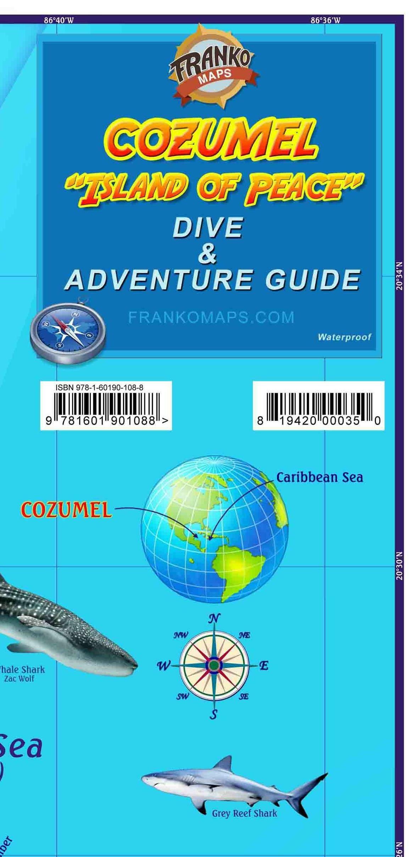 Cozumel Dive Adventure Guide Franko Maps Waterproof Map Franko