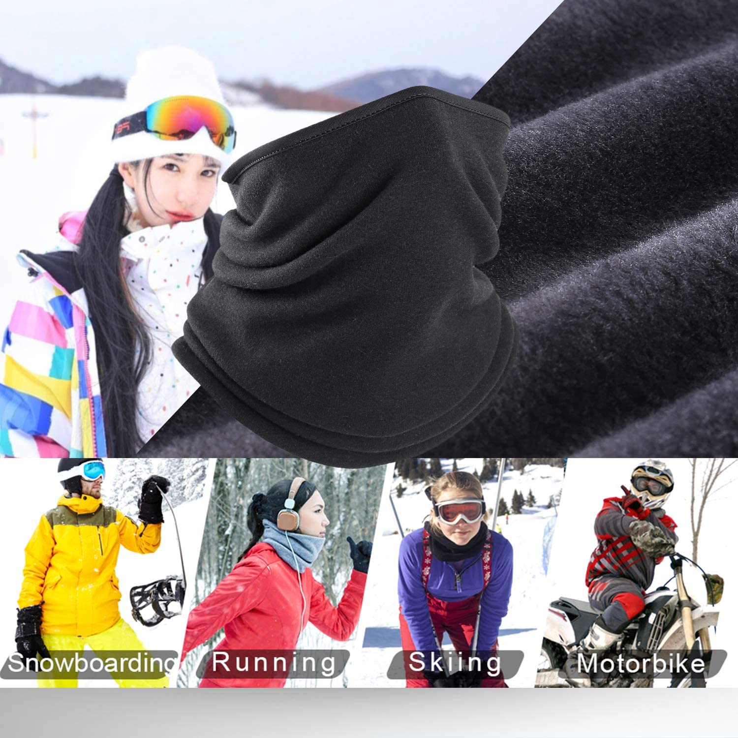 2 Pack // 1 Pack WTACTFUL Polar Fleece Neck Warmer Protective for Chilly Winter