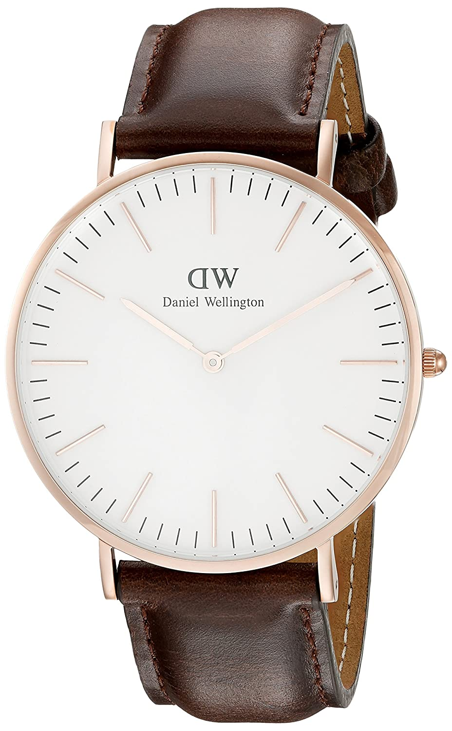 Ben noto Daniel Wellington Men's Brown/White Leather Watch: Daniel  MP09