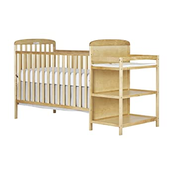 Dream On Me, 4 In 1 Full Size Crib And Changing Table Combo, Natural