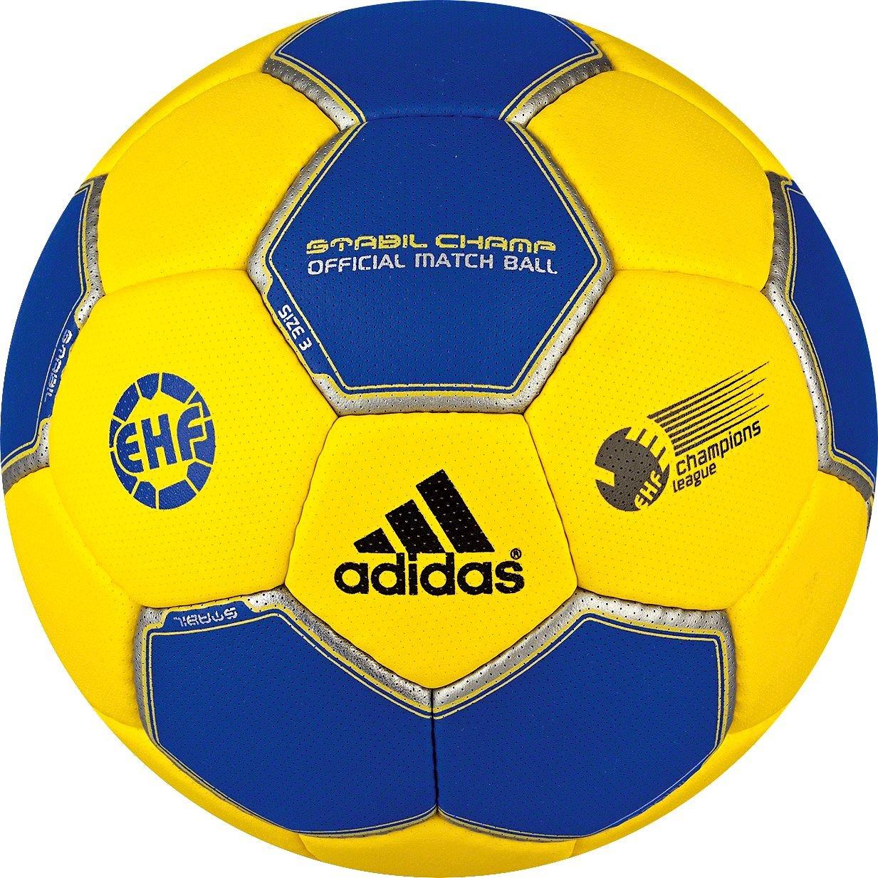 adidas Stabil Champ - Balón de balonmano amarillo sun/cobalt Talla ...