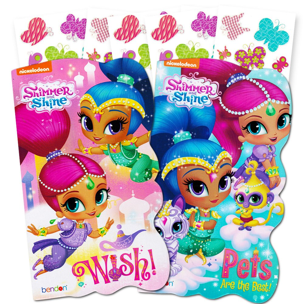 Shimmer and Shine Board Books Set 2 Books and Licensed Stickers