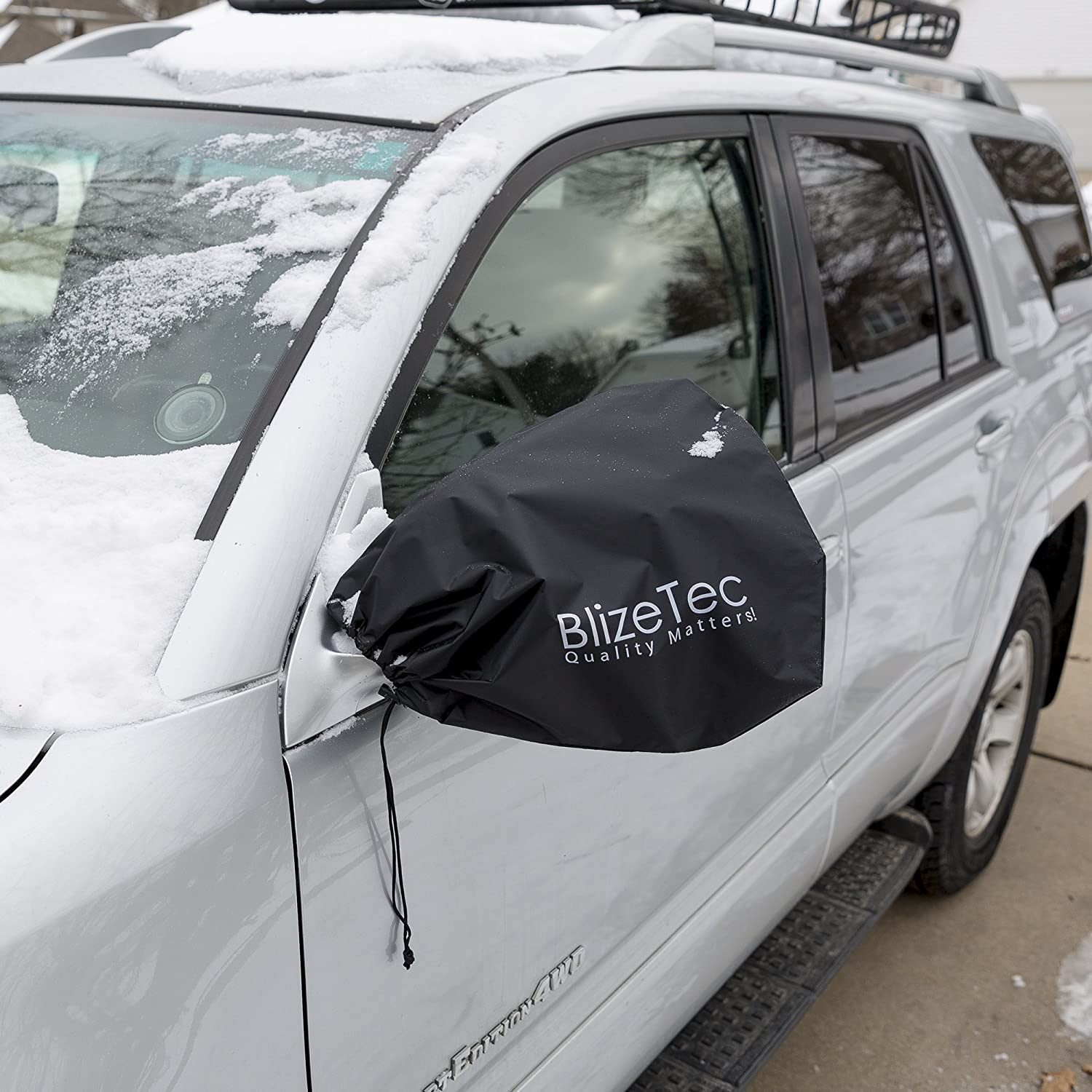 Car Side View Mirror Covers: BlizeTec Rain Ice and Snow Protectors; Universal Design to Fit Most Car 4 pcs Suv and Van