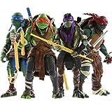 "2014 Hot 4pcs/Lot Teenage Mutant 5"" Action Figure TMN Turtle Toys"