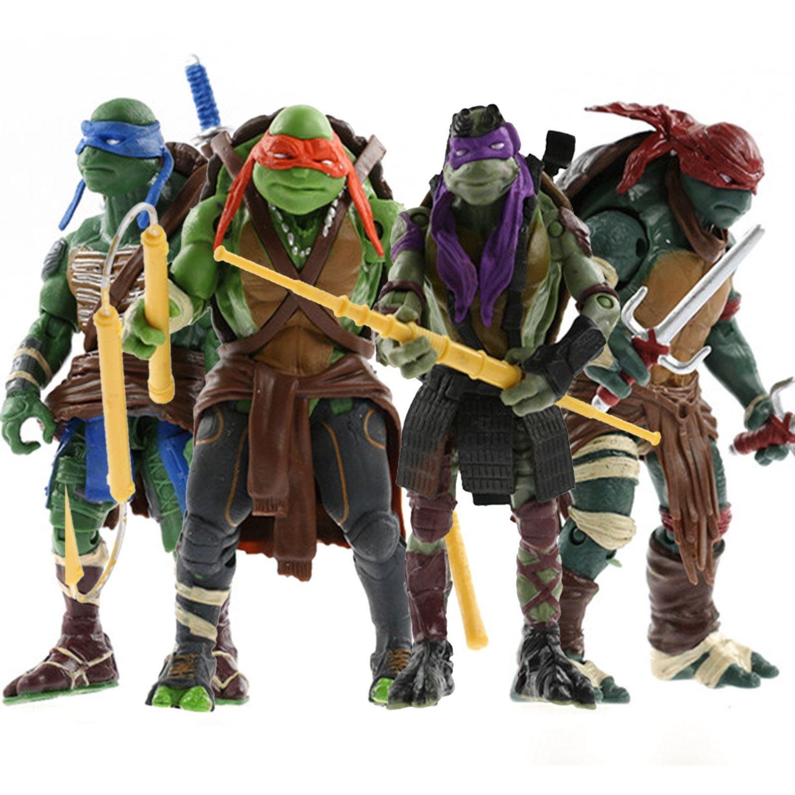 FiraDesign 2014 Hot 4pcs/Lot Teenage Mutant 5'' Action Figure TMN Turtle Toys