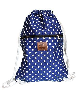 9c1480ee1dfe3 deCiel Turnbeutel - aus Canvas - Baumwolle Style Rucksack Gymbag  Sportbeutel Hipster Fashion (Blau