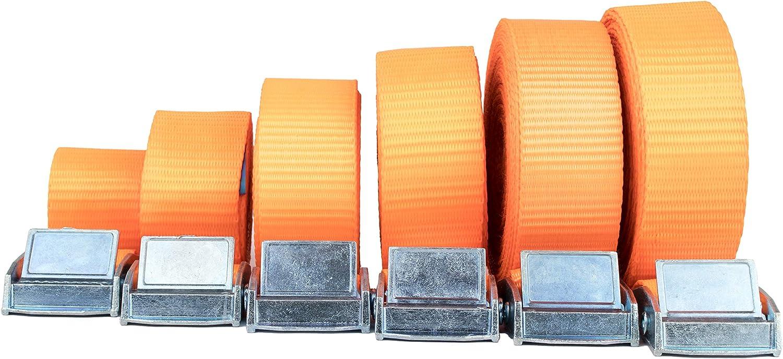 25mm L/änge 3 Meter Spanngurte mit Klemmschloss im 4er Set