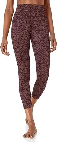Amazon Brand - Core 10 Women's Leopard Jacquard Yoga High Waist 7/8 Crop Fashion Legging-24