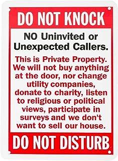 Wali Aluminium Panneau pour Home Business de sécurité, Legend 'NE pas Knock-do pas déranger', rectangle, protection UV et étanche Wa-sign-a-5, 25,4cm H x 17,8cm L