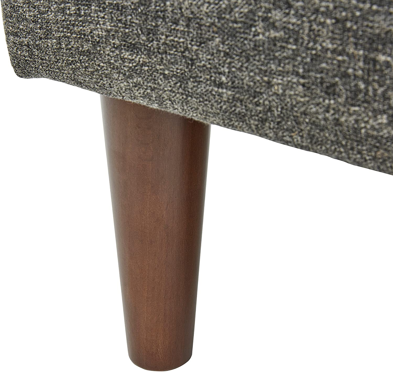 colore grigio chiaro ottomana modello Ava larghezza 65 cm stile mid-century Marchio  -/Rivet