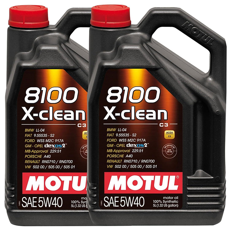 MOTUL 102051 - LATA ACEITE 5W40 8100 X-CLEAN 5L C3: Amazon.es: Coche y moto