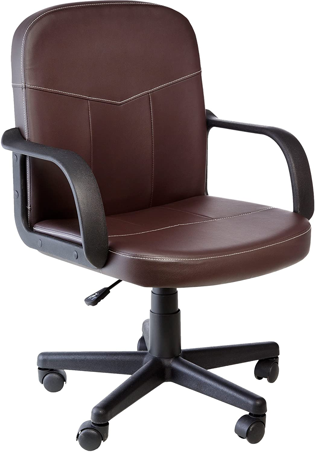 Comfort Office Chair. Amazon.com: Comfort Products Mid Back Leather Office  Chair