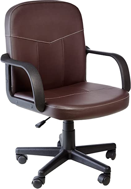 brown leather office chair. Comfort Products Mid-Back Leather Office Chair Brown Leather Office Chair N