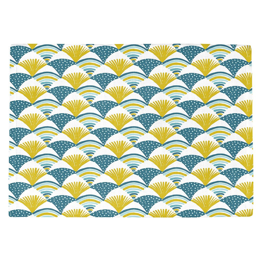 DIANOCHEキッチンPlaceマットby Artist Metka Hiti – Fishy L Set of 4 Placemats PM-MetkaHitiFishyl2 Set of 4 Placemats  B01N8SYN42