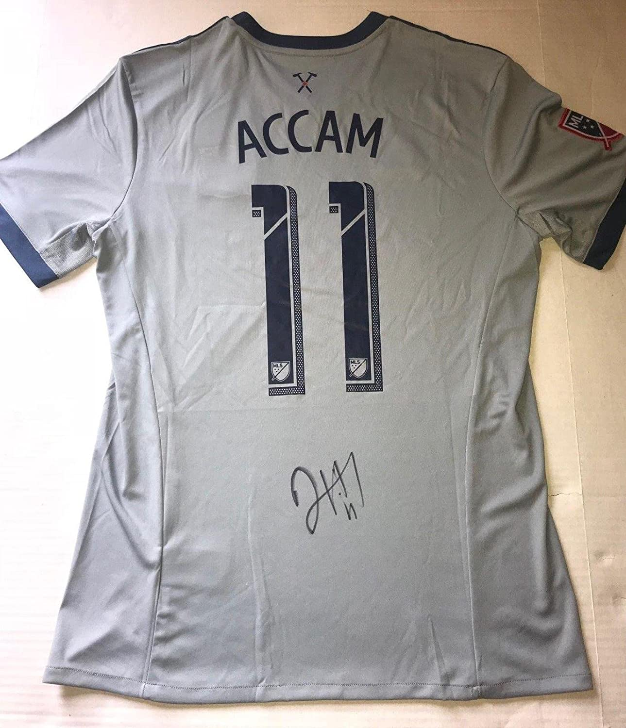 fd5b0cfa9e3 David Accam Philadelphia Union signed Chicago Fire jersey autographed MLS -  Autographed Soccer Jerseys at Amazon's Sports Collectibles Store