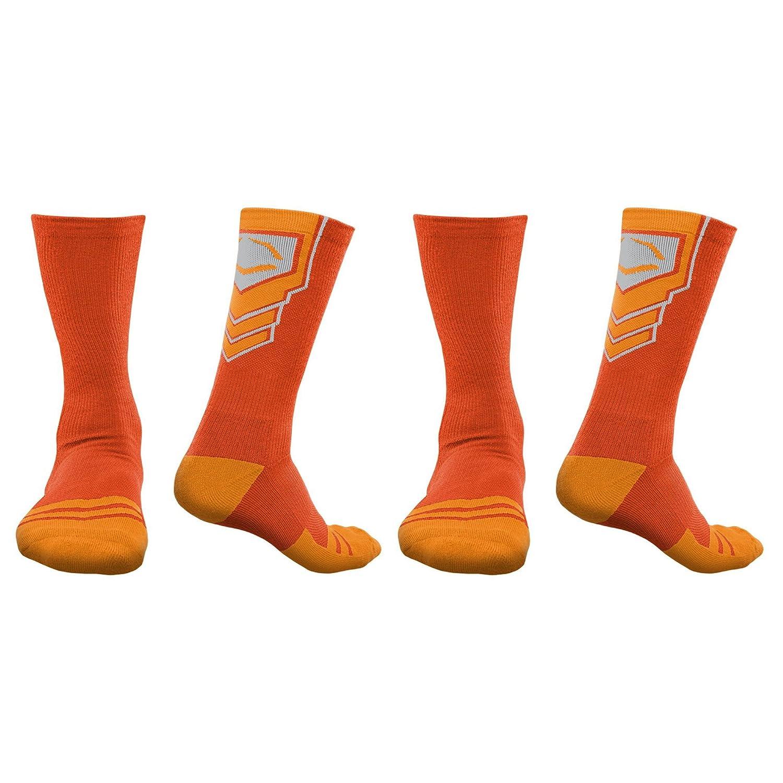 Evoshieldメンズパフォーマンスクルーソックス B071RVTRWM Large|Orange-2 Orange-2 Large