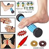 La acupresión del pie magnético Masajeador Roller en punta para Relax y Vitalidad con la carta Reflexología libre y masajeadores de mano