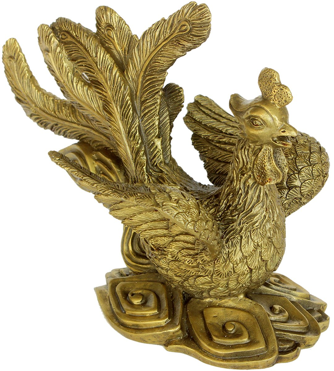 銅製  鳳凰 万鳥の王 飾り物 縁起物 魔よけ 開運 幸運の置物 お守り B0711V425B