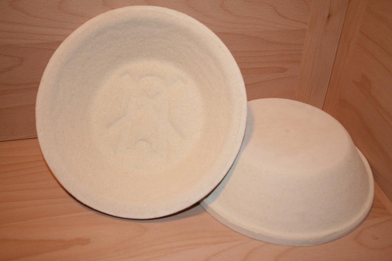mit Rillenmuster Gärkorb Gärkörbchen Brotform Holzschliff 0,75 kg rund