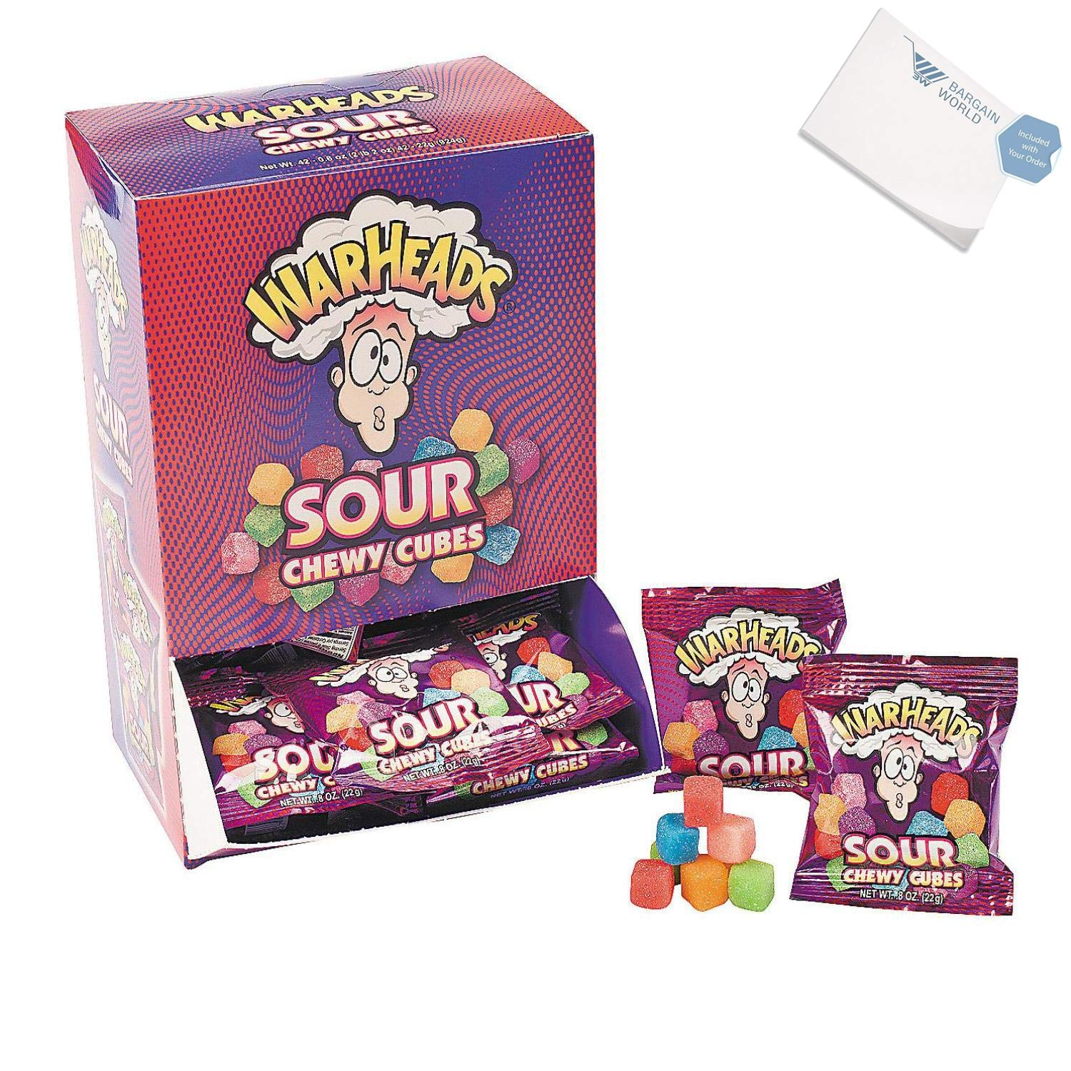 Bargain World WarHeads Sour Chewy Cubes (With Sticky Notes) by Bargain World (Image #2)